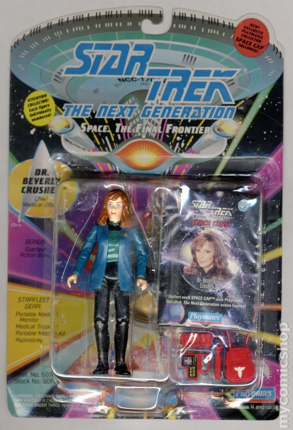 Star Trek The Next Generation Action Figures Playmates STNG 90/'s MULTI-LISTING