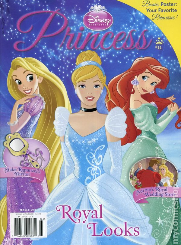 Disney Princess Magazine Comic Books