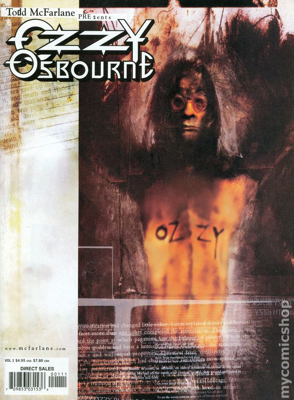 Things For Sale >> Ozzy Osbourne (1999 Image) comic books