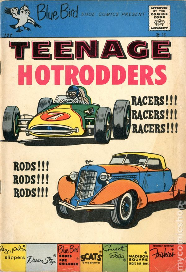 Teenage Hotrodders (Blue Bird Comics 1959-1964 Charlton) comic books