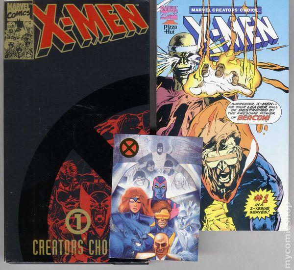 Marvel 1993 Pizza Hut #2 Modern Age Comic Book X-Men Collector/'s Edition