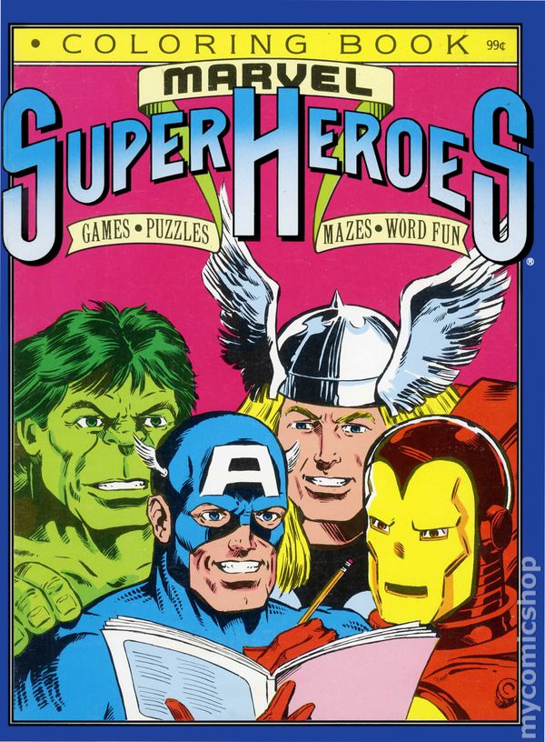 Marvel Super Heroes Coloring Book SC (1987) comic books