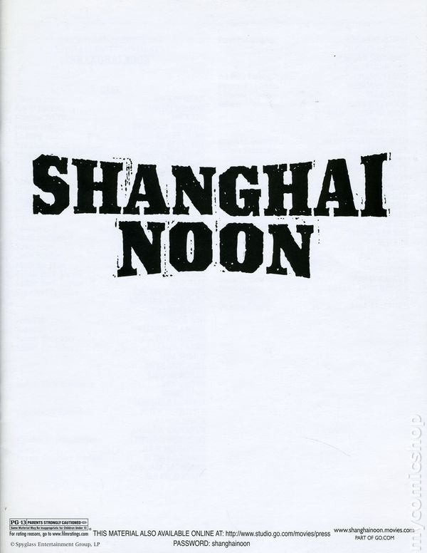 Shanghai noon promotional media book 2000 comic books for Touchstone promotional products