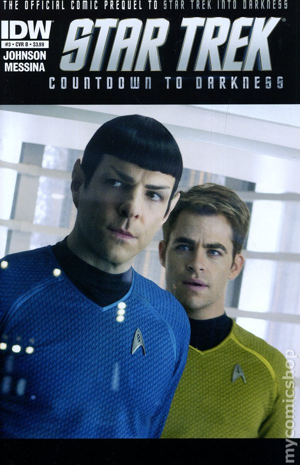 Star Trek Countdown to Darkness #3B Photo Variant VF 2013 Stock Image