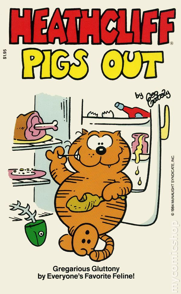Heathcliff Pigs Out PB (1984 Charter Books) comic books