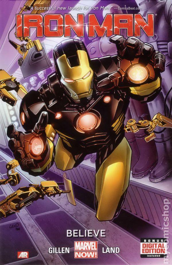 Iron Man Comic Cover 2013 Iron Man hc 2013 2014 Marvel