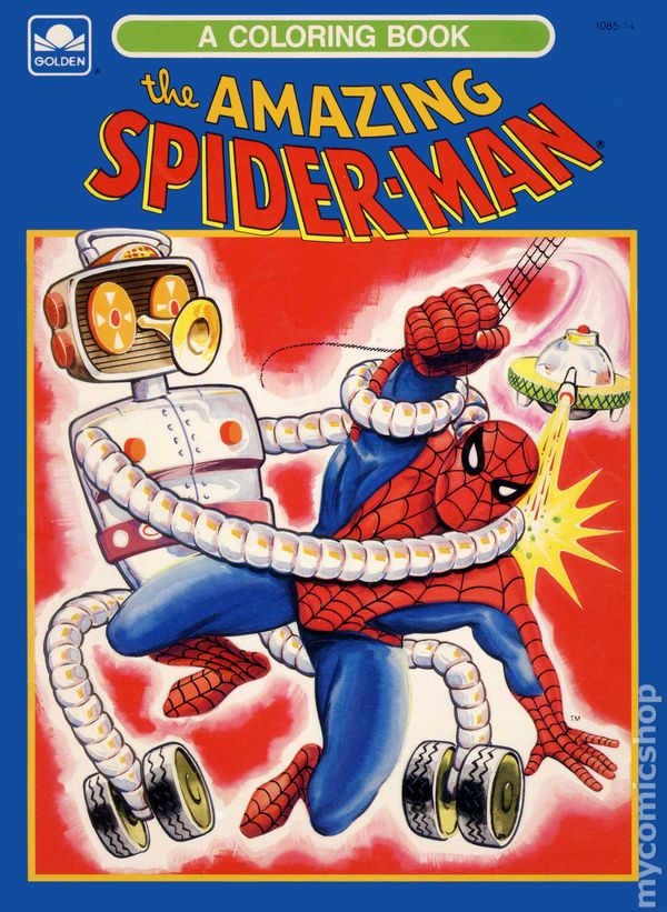 Amazing Spider Man Coloring Book SC 1976 A Golden 1 REP