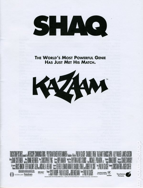 Kazaam promotional media book 1996 comic books for Touchstone promotional products