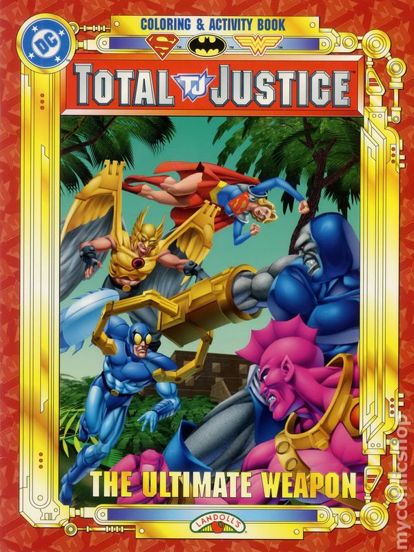 Total Justice Coloring And Activity Book Sc 1997 Landoll