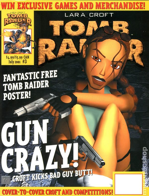Tomb Raider The Official Magazine 2001 Titan Comic Books