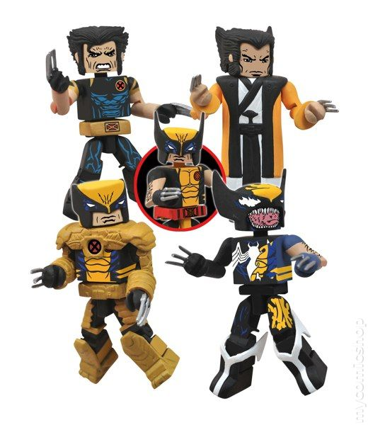 Marvel UNIVERSO MINIMATES Figure Set Wolverine Sentinella E CAPITAN AMERICA