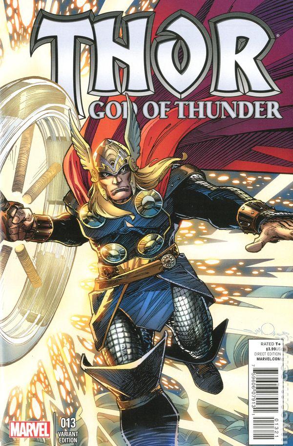 Thor God of Thunder #25A 2014 Ribic Variant NM Stock Image
