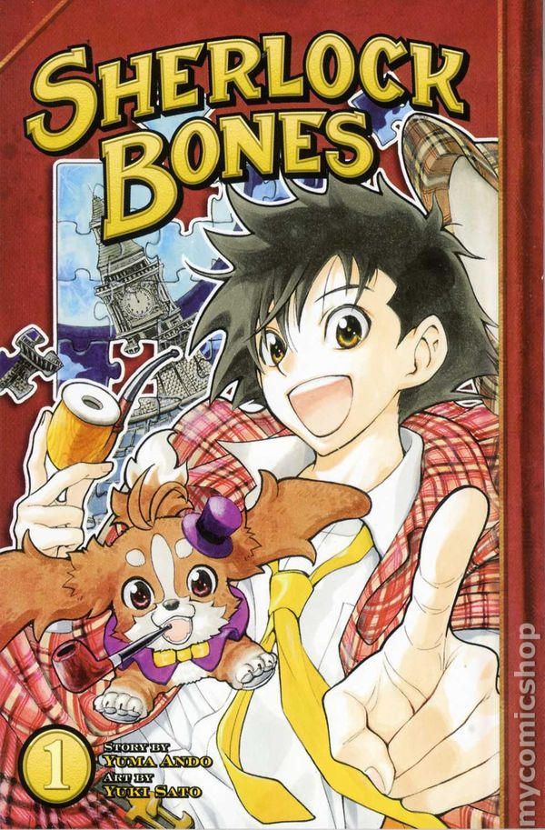 sherlock bones manga books novel graphic anime volume comics comic kodansha digest gn holmes abound questions read v01 1st mysteries