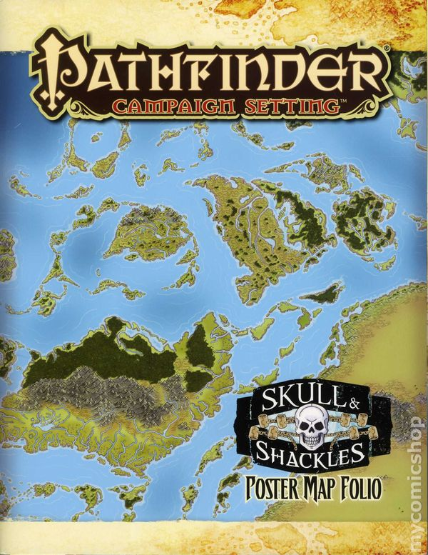 Pathfinder Campaign Setting: Skull and Shackles Poster Map Folio SC