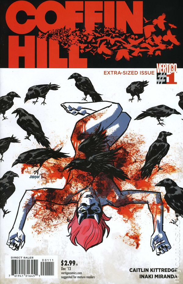 COFFIN HILL #1 signed 1st print VERTIGO comic 2013 DAVE JOHNSON eve coffin COA