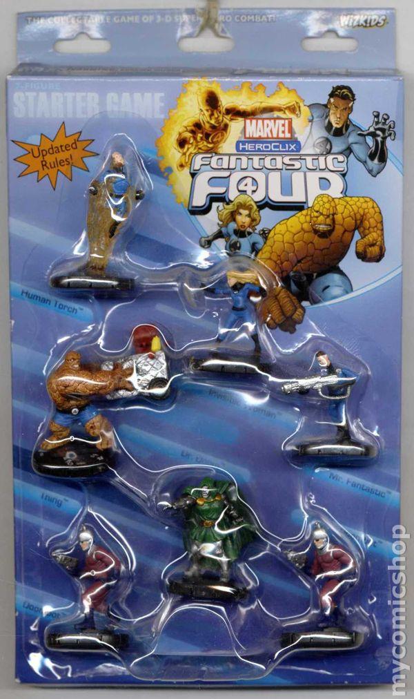 Heroclix Fantastic Four set Mr Fantastic #001 Common figure w//card!
