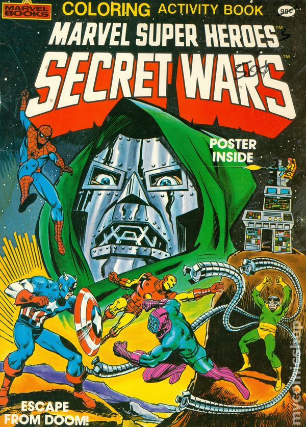 Marvel Super Heroes Secret Wars Coloring And Activity Book