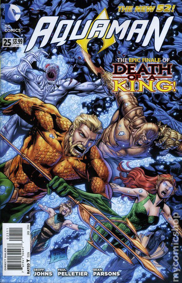 Characters DC Comics 25 rubles Aquaman Coin in postcards UNC