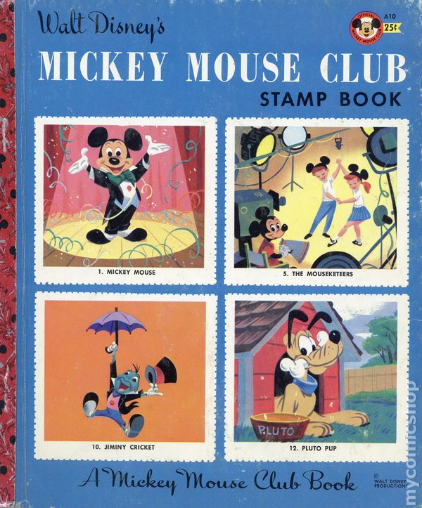 Mickey Mouse Club Stamp Book HC 1956 Walt Disney Productions Comic Books