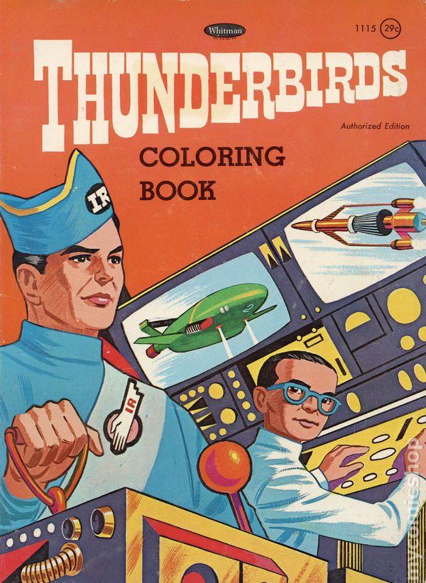 thunderbirds coloring book  1968 whitman  comic books