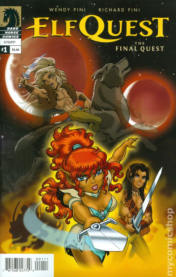 Book Cover Craft Quest : Elfquest final quest comic books