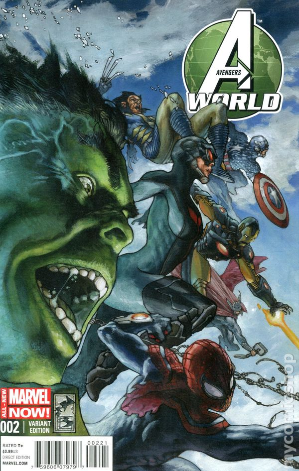 AVENGERS WORLD #1 2014 MARVEL COMIC BOOK NEW DIGITAL CODE INCLUDED TROUBLE MAP