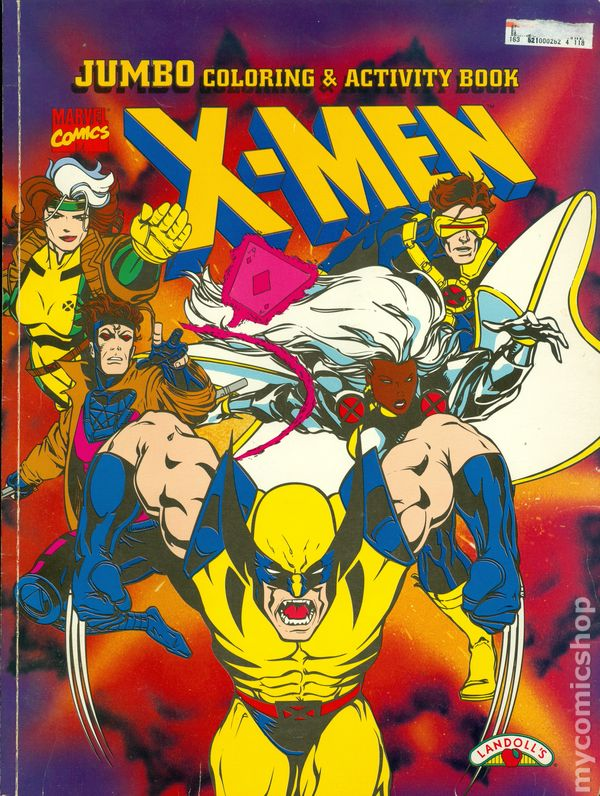 X Men Jumbo Coloring And Activity Book SC 1997 Landolls 1 1ST