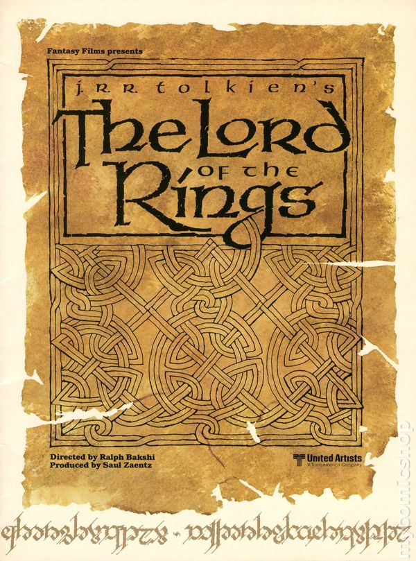 Lord Of The Rings Promotional Brochure  Comic Books