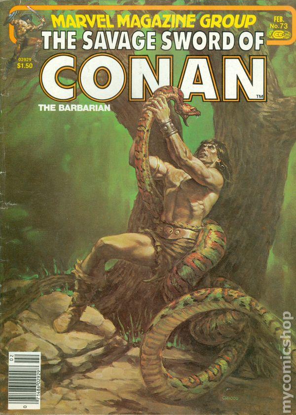 Toth+ Gil Kane/'s Andrax 1981 near mint SAVAGE SWORD OF CONAN #64 John Busema