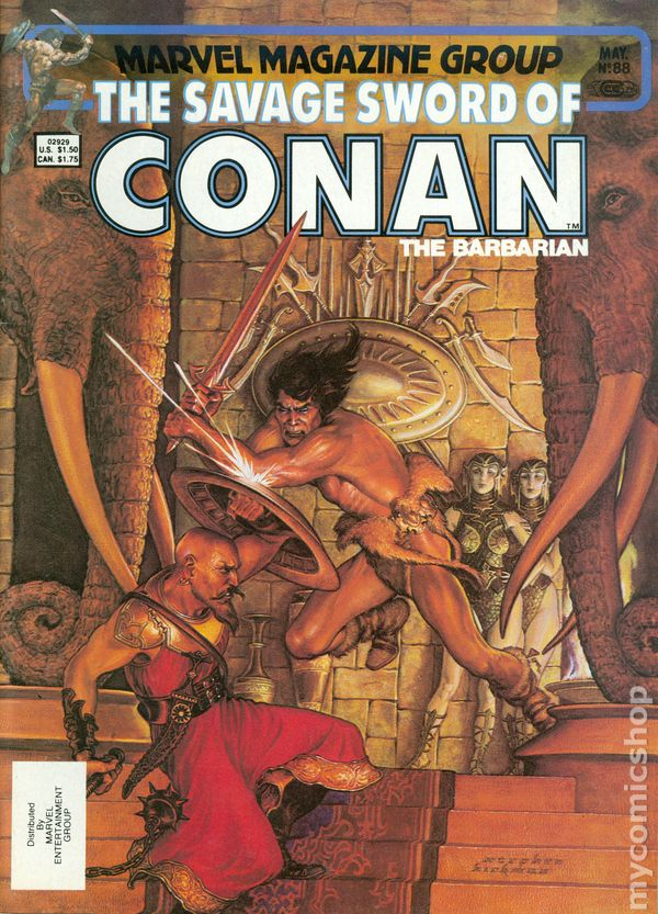 1974 SAVAGE SWORD OF CONAN #3 FVF Mike Kaluta Cover