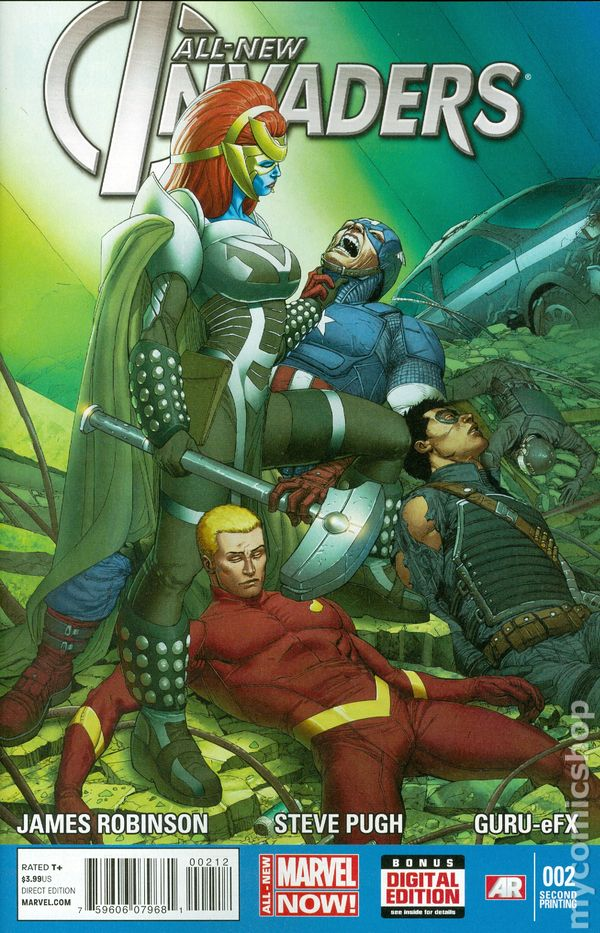 Marvel Comics INVADERS #2 first printing