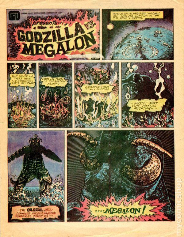 Godzilla Vs Megalon Movie Theater Giveaway 1975 Comic Books