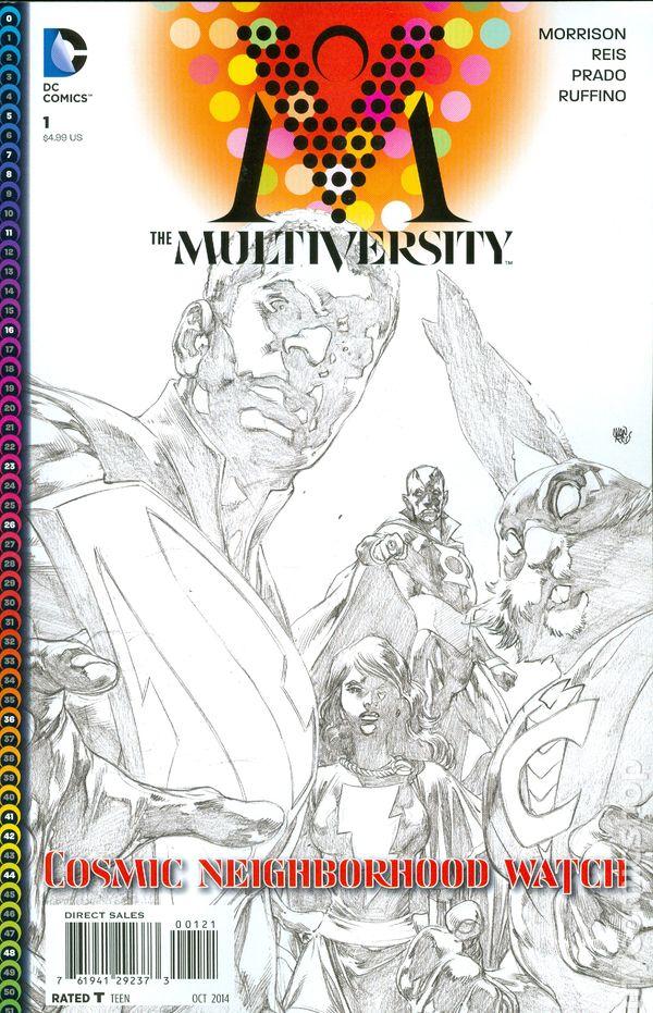 #2 VF//NM BLACK /& WHITE VARIANT COVER GRANT MORRISON THE MULTIVERSITY 2015