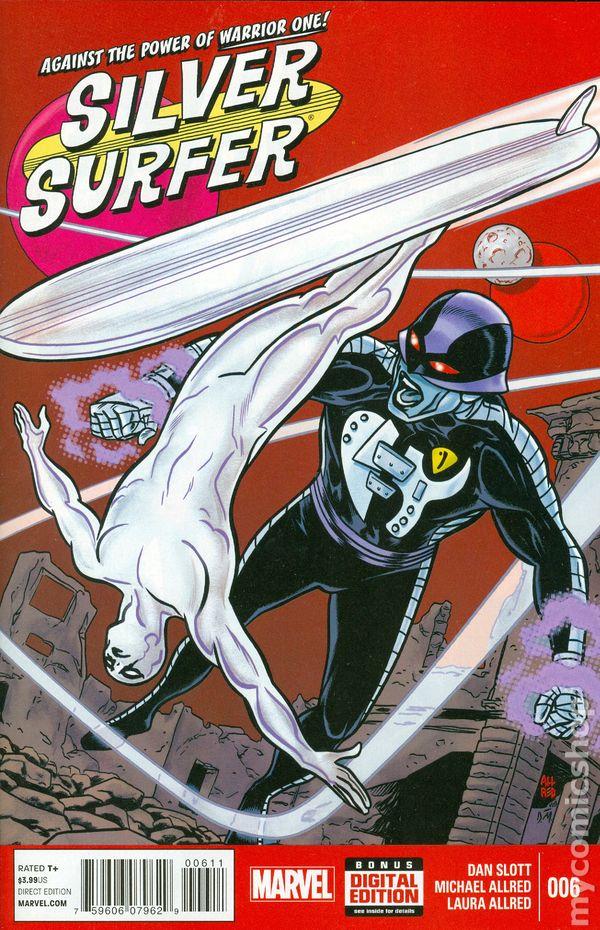 ALLRED MARVEL COMICS SLOTT SILVER SURFER ISSUE 6 FIRST 1st PRINT