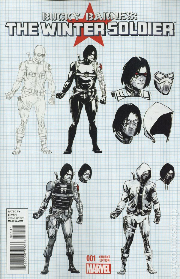Bucky Barnes Winter Soldier 2014 comic books