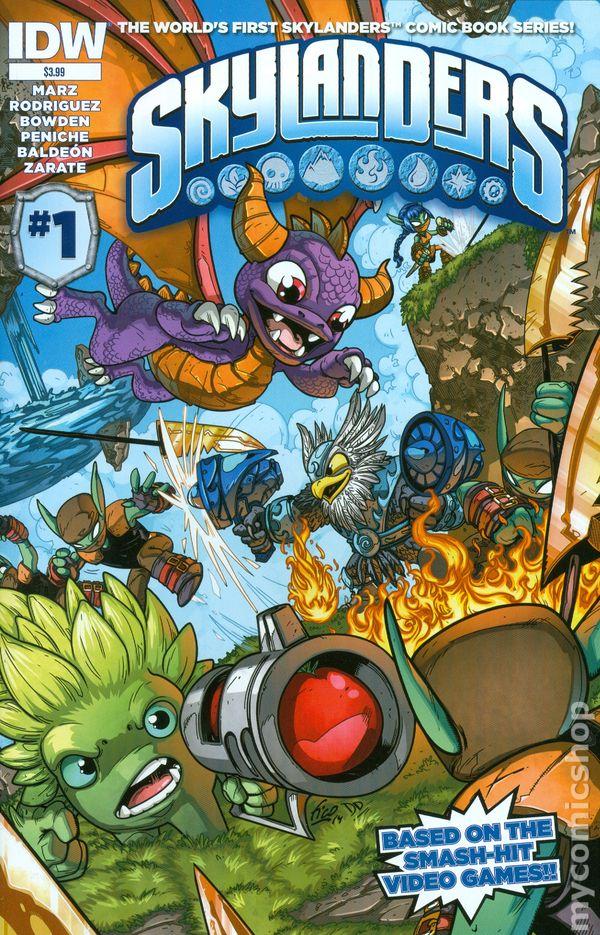 Favorite Books List: Skylanders (2014 IDW) Comic Books