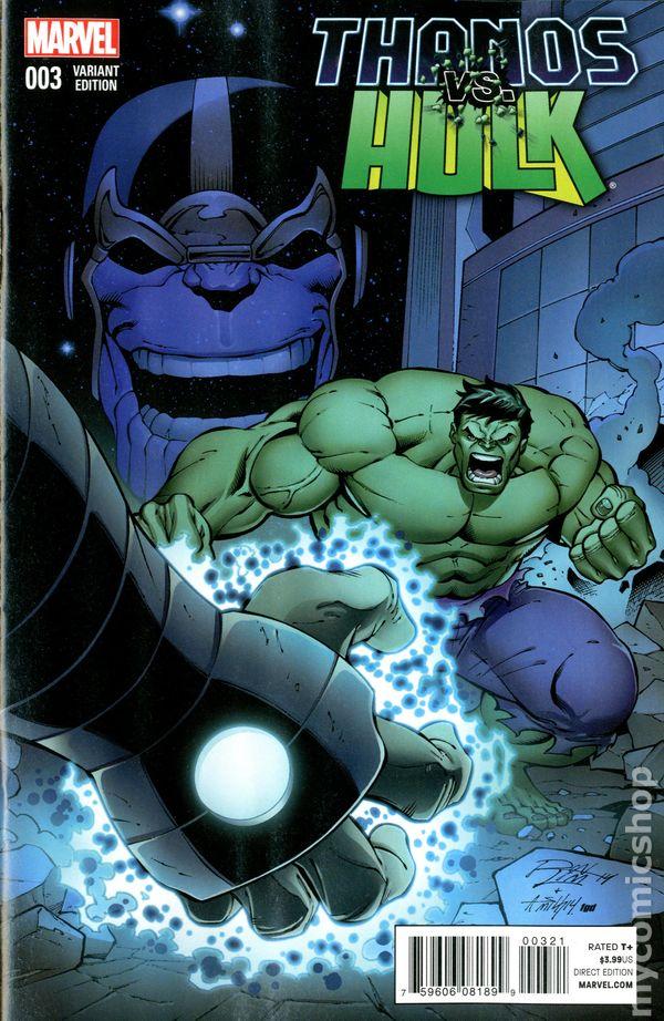 thanos vs hulk 2014 comic books