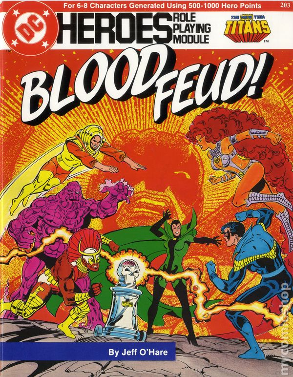 DC Heroes Role-Playing Game New Teen Titans Blood Feud SC (1985 Mayfair)  comic books