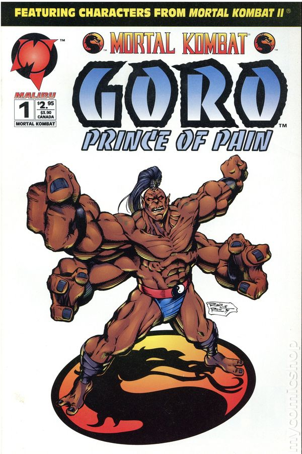 Mortal Kombat Goro Prince Of Pain 1994 Comic Books