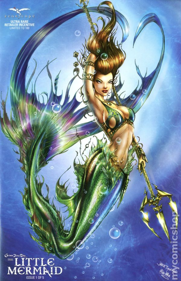 Grimm Fairy Tales Little Mermaid 2015 Zenescope Comic Books
