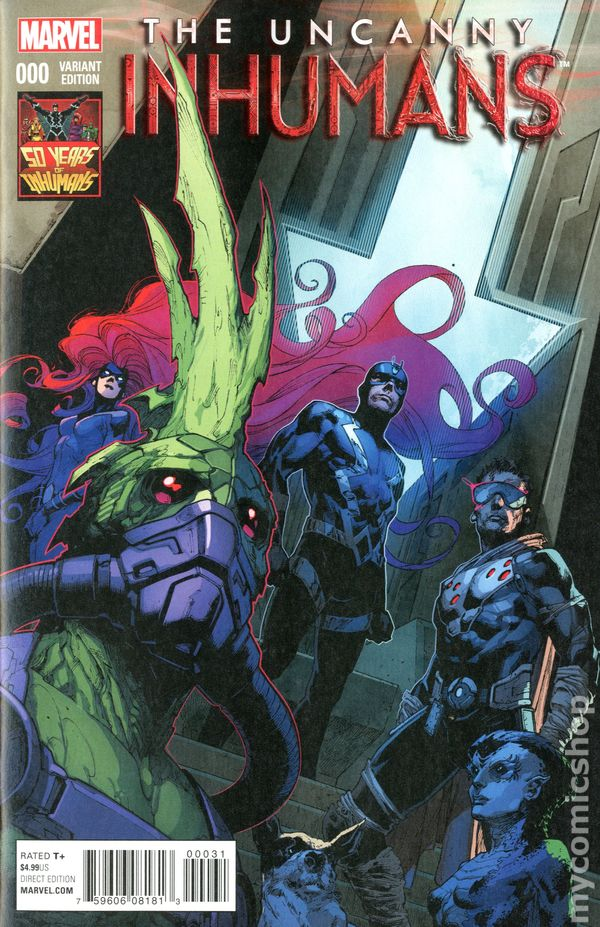 Uncanny Inhumans # 3 Action Figure Variant Cover NM Marvel 2015
