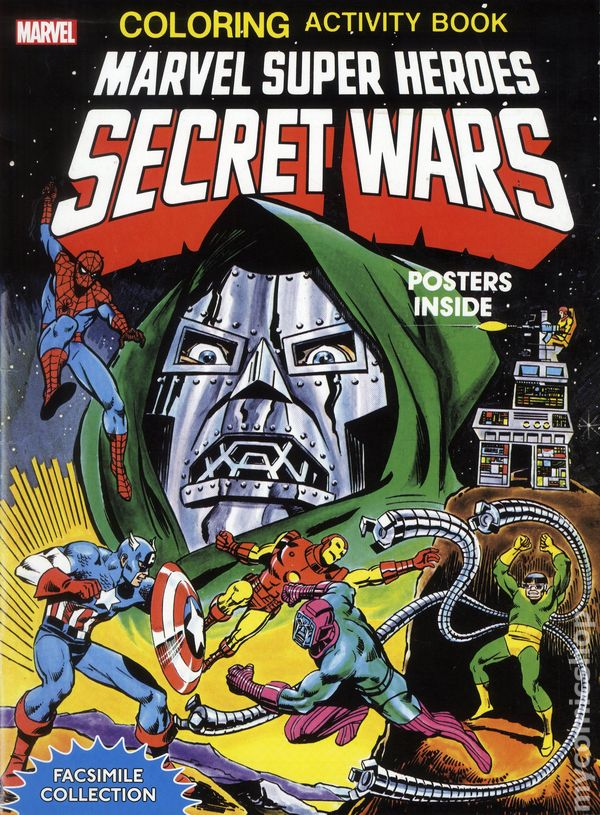 marvel super heroes secret wars coloring activity book facsimile