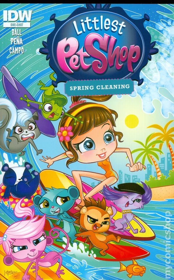 littlest pet shop spring cleaning  2015  comic books