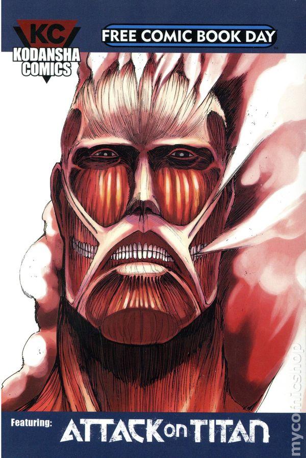 Kodansha Comics Featuring Attack on Titan (2015 Kodansha) FCBD 2015 comic books 2015-2017