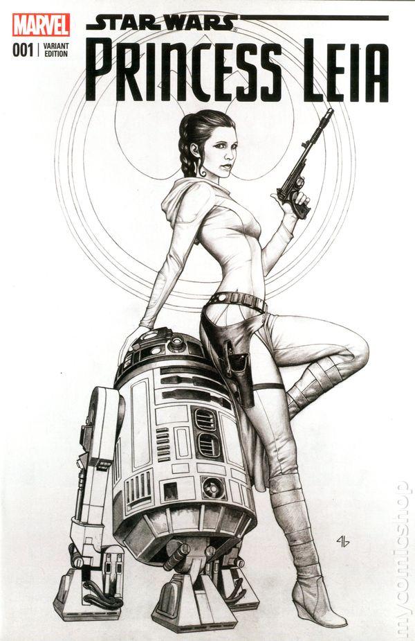 Princess Leia #1 Emerald City Adi Granov Sketch Variant Marvel VF//NM Comics Book