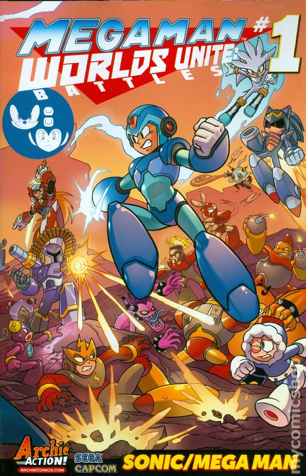 mega man worlds unite battles comic books issue 1