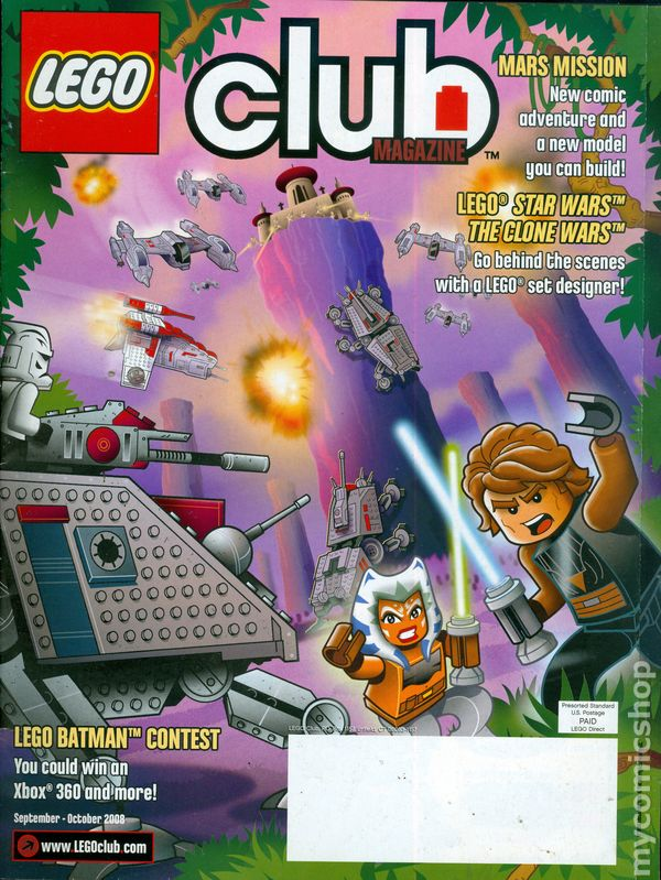 Lego Club Magazine comic books 2007-2009