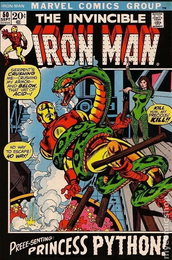 Iron Man Comic Books Issue 50 1972