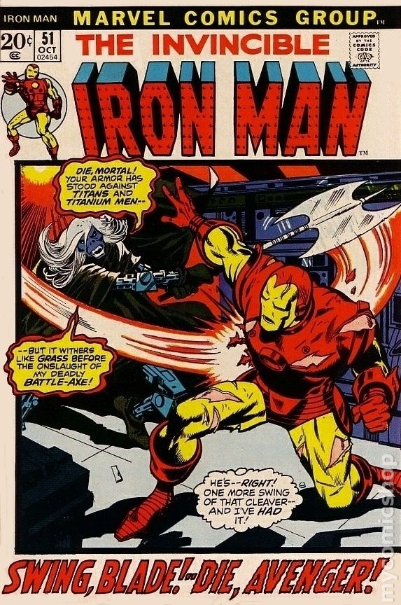 Iron Man comic books issue 51 1972