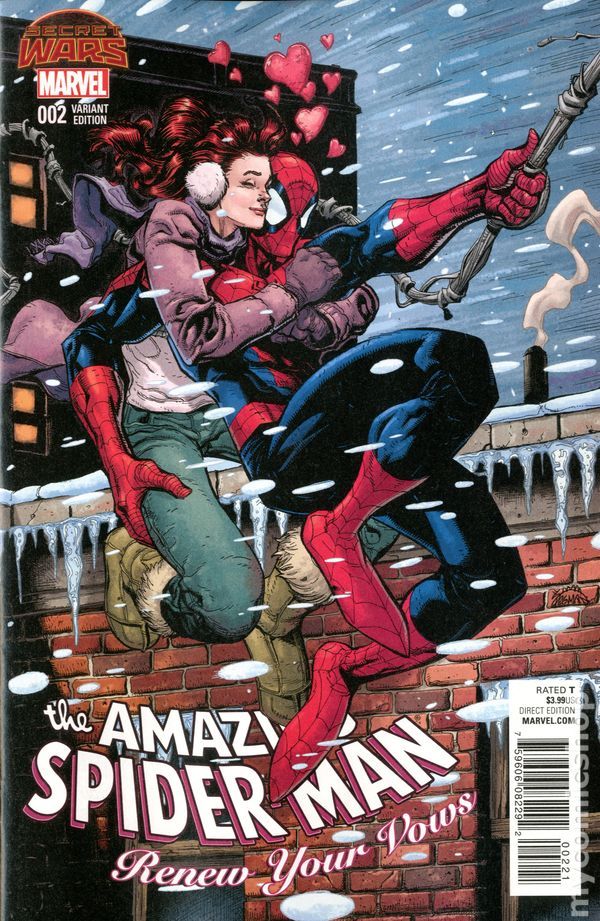 Amazing Spider-Man Renew Your Vows #2A Kubert Variant NM 2015 Stock Image